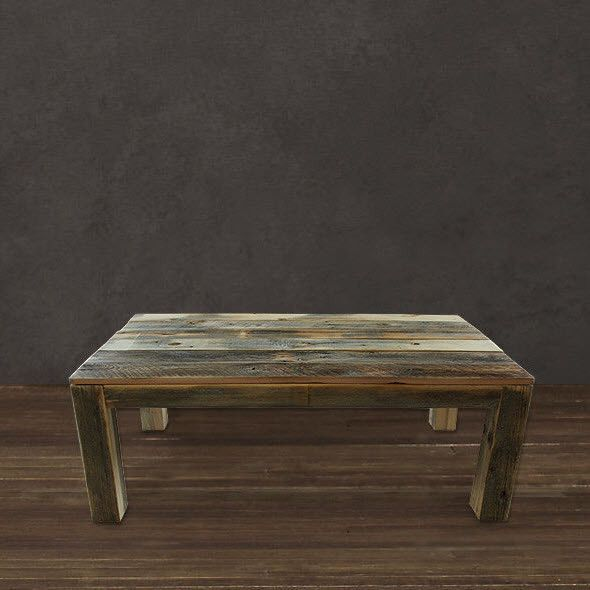 Reclaimed Wood Parsons Coffee Table