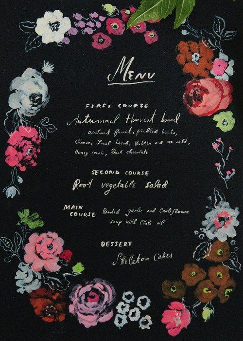 free printable Halloween menu card for your dinner party by - free printable dinner party invitations
