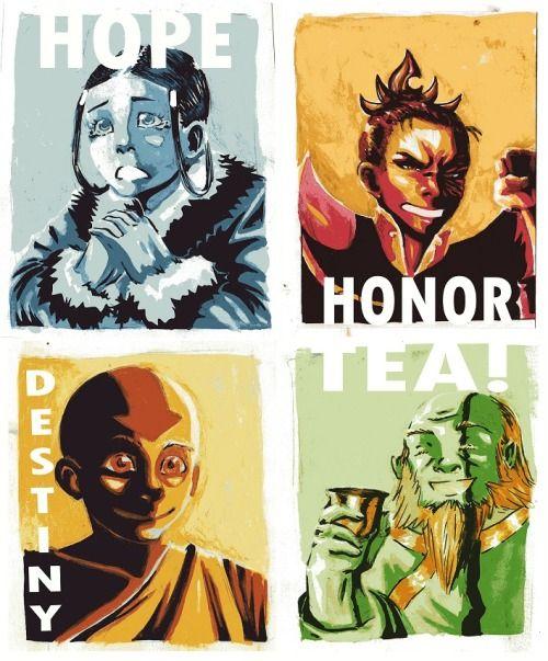 Hope Honor Destiny Tea Avatar Poster Comp By Kiripop Avatar Poster Avatar The Last Airbender The Last Airbender