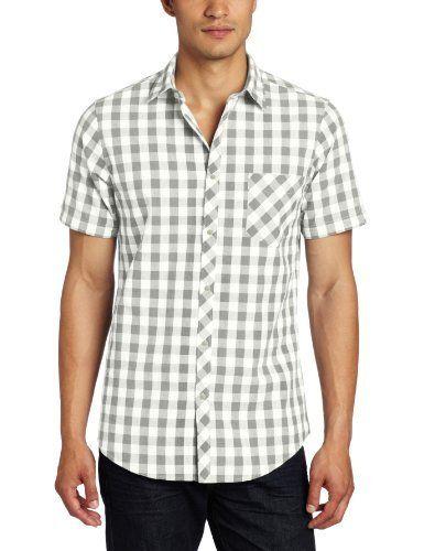 Groomsmen shirt - Ben Sherman Men's Plectrum Short Sleeve Marl Gingham Shirt, Flake Grey, X-Large Ben Sherman, http://www.amazon.com/dp/B0089THOU8/ref=cm_sw_r_pi_dp_eS.erb0YEFQ3C