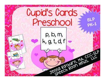 cupid 39 s cards preschool valentine 39 s day articulation speech room news speech activities. Black Bedroom Furniture Sets. Home Design Ideas