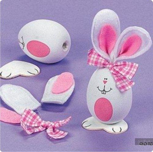 Как сделать кролика из яйца фото 663
