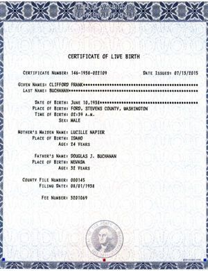 Washington State Department Of Health Birth Certificate  Health