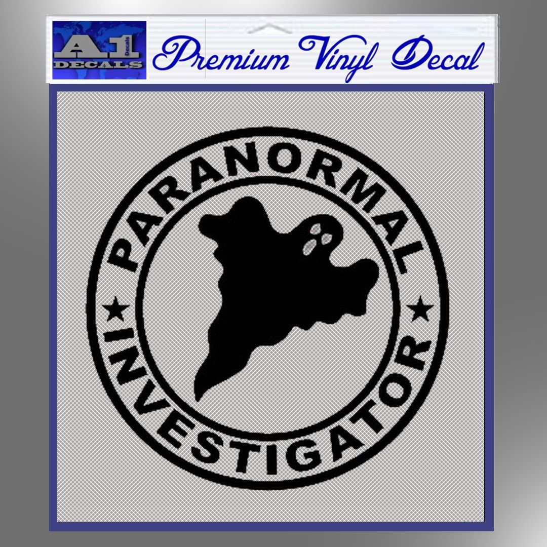 Paranormal Investigator Decal Sticker Ghost A1 Decals Paranormal Investigation Stickers Vinyl Decals [ 1080 x 1080 Pixel ]