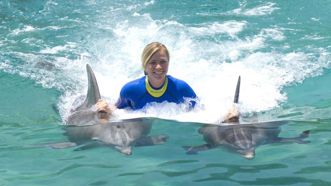 DiscoveryCove_Orlando_FL.  I have always wanted to swim with the dolphins!