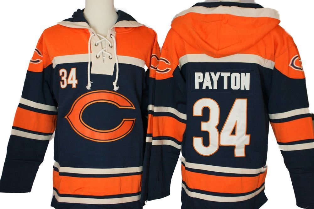 new product 460a4 37175 From L chicago Payton Bears New 79 nfl Hoodie Shirt Lacer ...