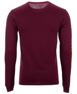 5791fabf8 Authentic Nfl Apparel Men s Washington Redskins Streak Route Long Sleeve T- Shirt - Red XXL