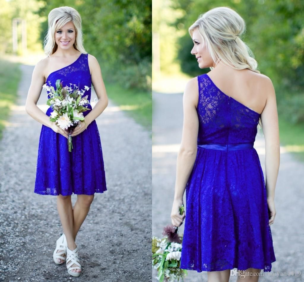 Country Bridesmaid Dresses 2017 New Short For Weddings Lace Royal ...