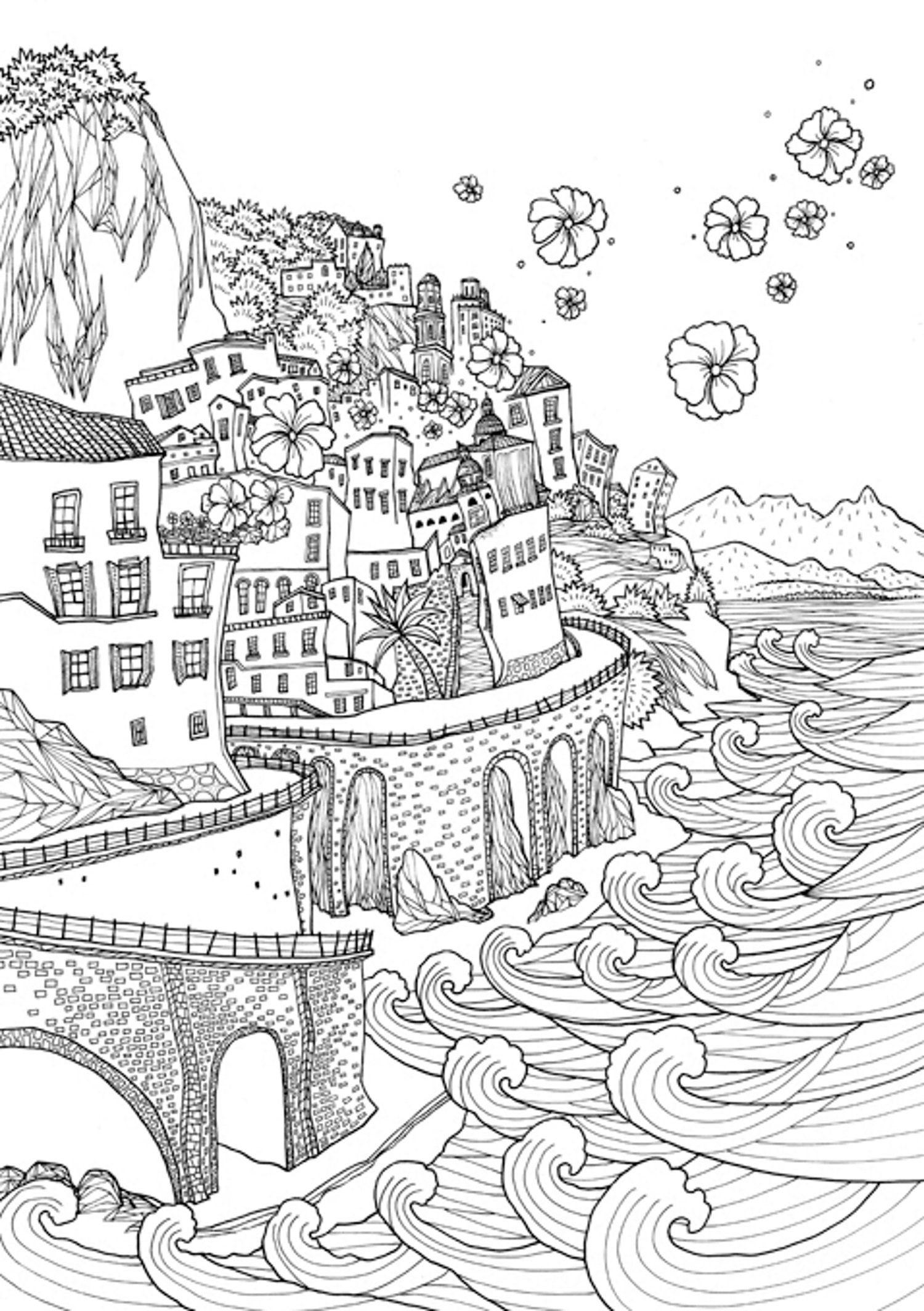Coloring Europe Bella Italia A Coloring Book Tour Of The World Capital Of Romance Il Sun Lee