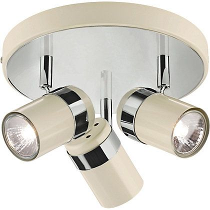 Heart Of House Shiro 3 Light Spotlight Plate Cream Chrome