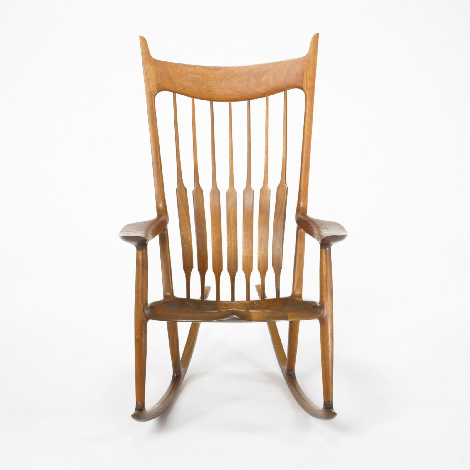 Sam Maloof rocker Sam maloof, Maple chair, Wooden
