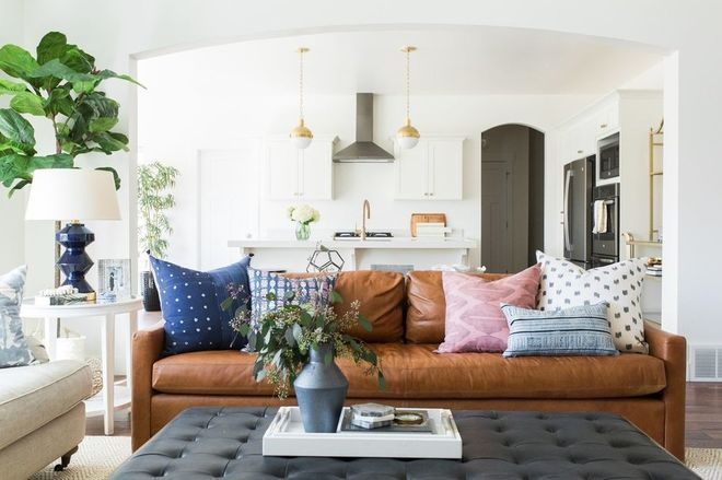 Transitional Living Room by Studio McGee