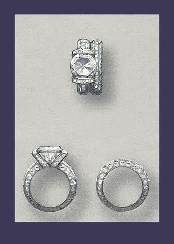 Jewelry Designs and Renderings by James Schraeder via Behance