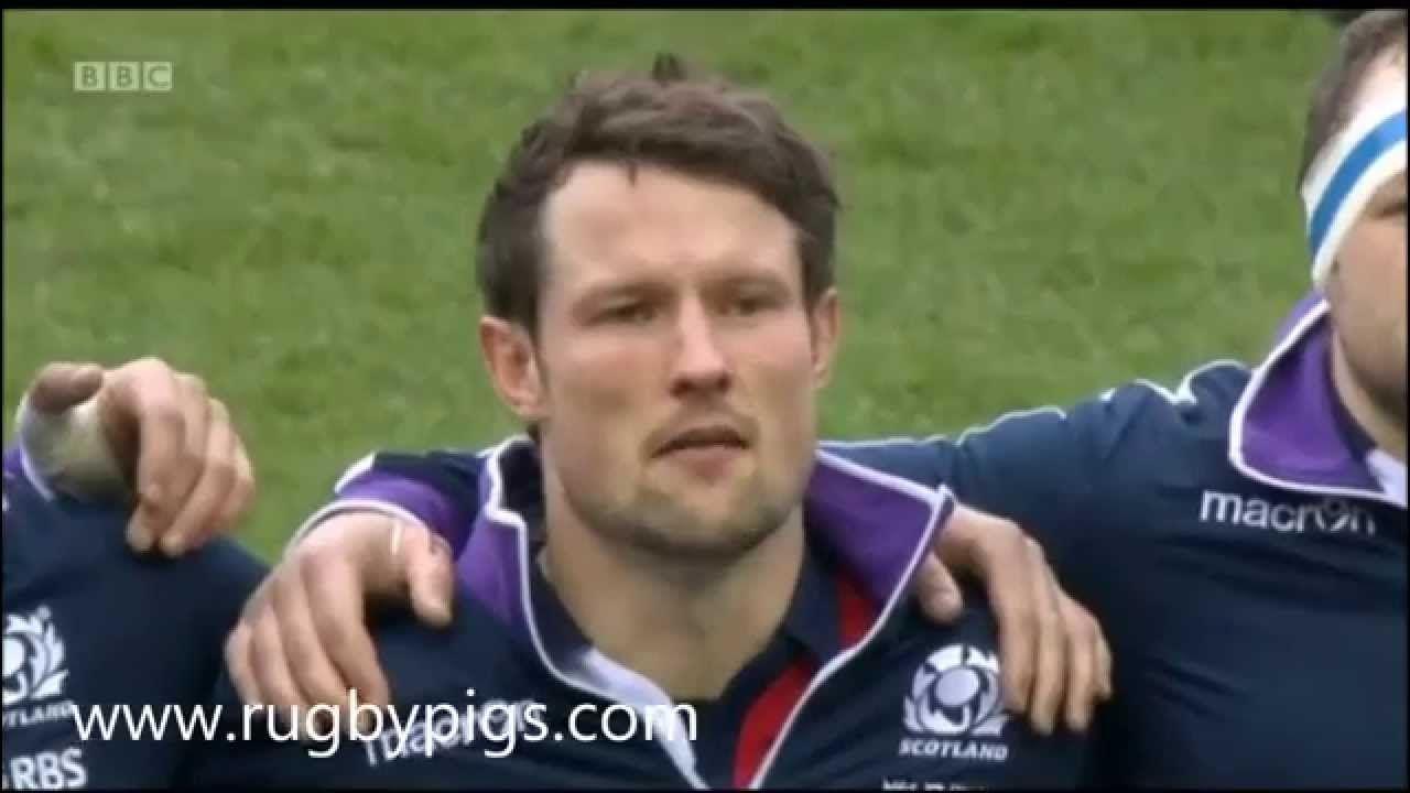"Scotland Rugby team sing ""Flower of Scotland"". Amazingly"
