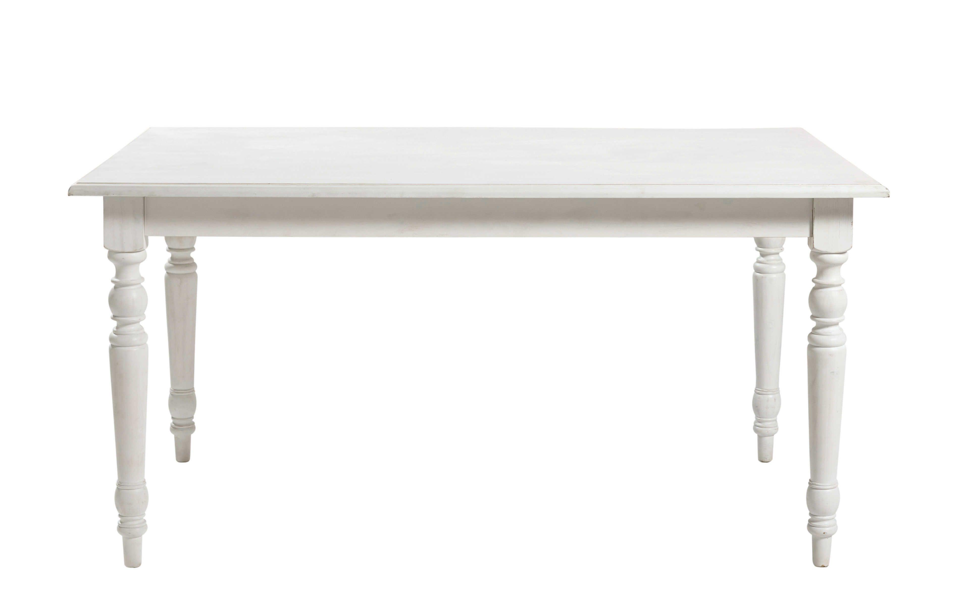 Table à manger extensible 6/8 personnes blanche L160/200 | Ma maison ...