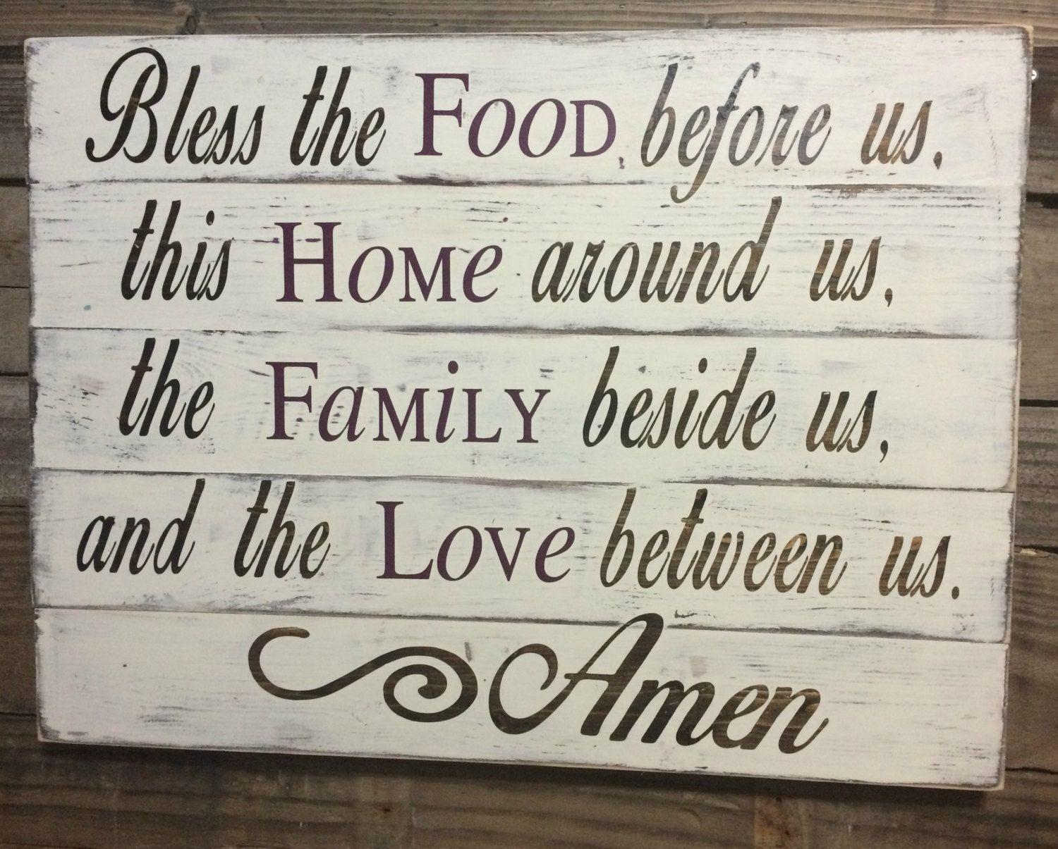 Dining Room Sign- Kitchen Sign- Christian Home Decor - Christian ...