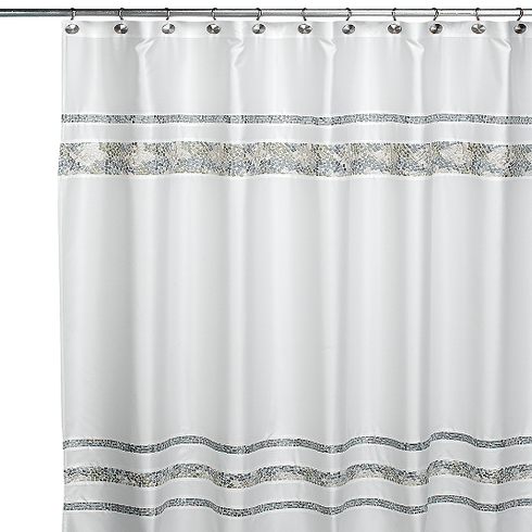Croscill Spa Tile 72 Inch X 84 Inch Fabric Shower Curtain 49 95