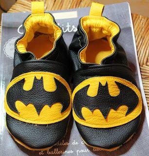 chausson en cuir Batman !