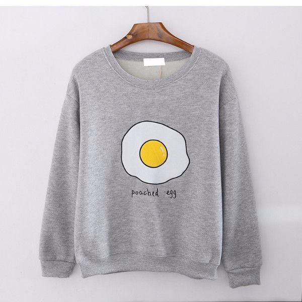 Poached egg fleece sweatshirt