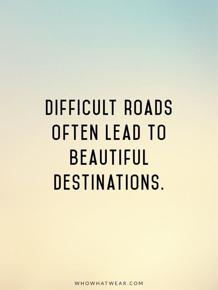 Difficult roads of life