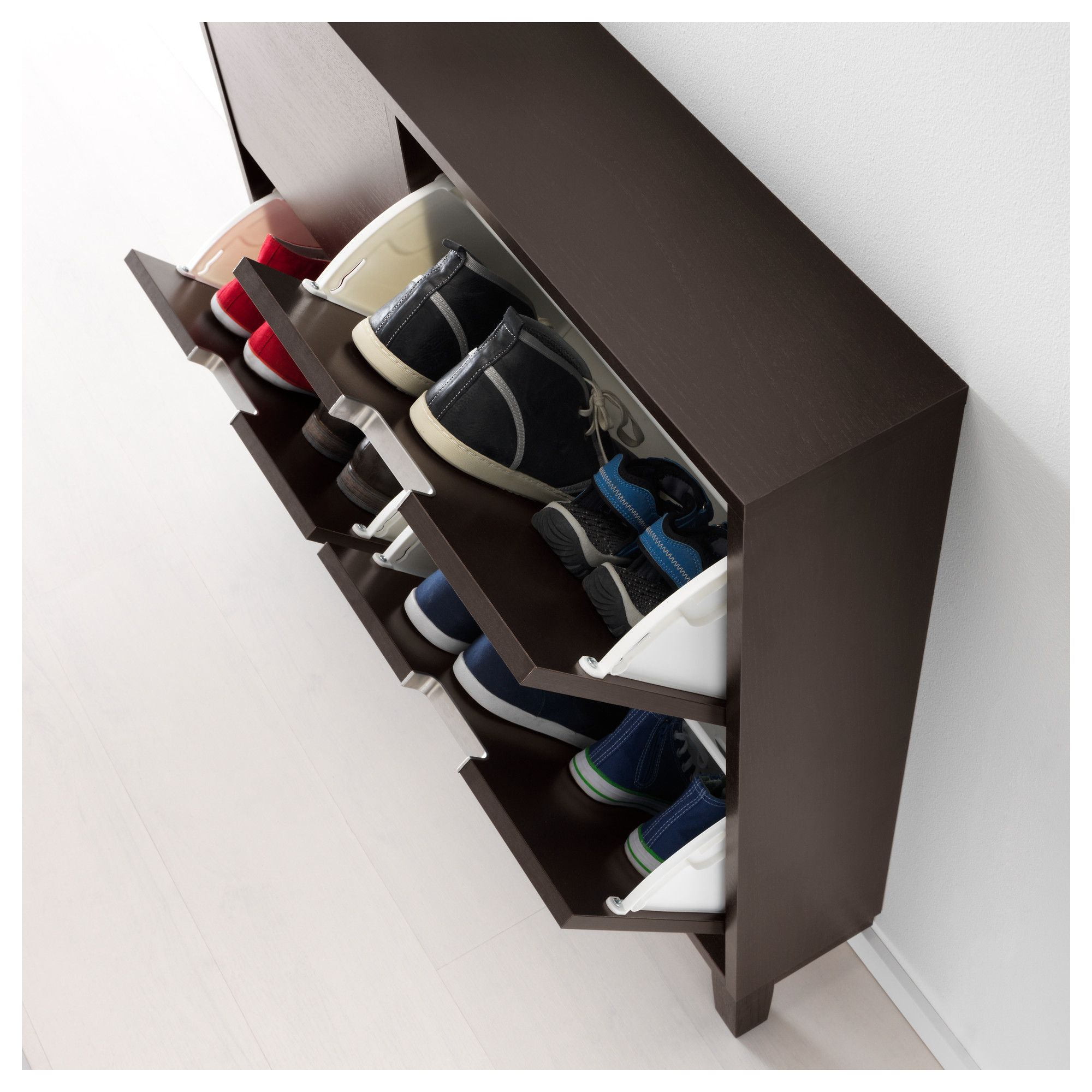 ikea st ll shoe cabinet with 4 compartments black brown pinterest shoe cabinets. Black Bedroom Furniture Sets. Home Design Ideas