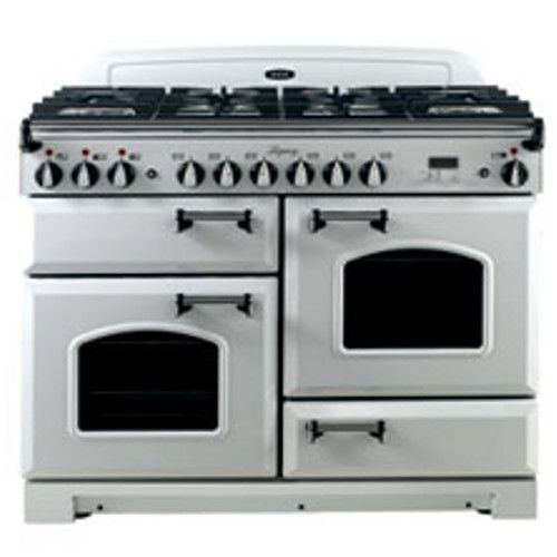 "AGA ALEBS44DFCDVWT Legacy 44"" White Dual Fuel Sealed Burner Range - Convection"