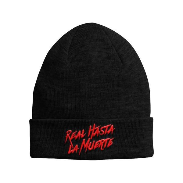 Black Real Hasta La Muerte Beanie Beanie Hats Fashion