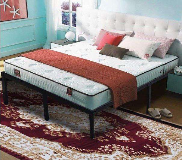 Amazon Com 45minst 16 Inch Tall Smartbase Mattress Foundation Platform Bed Frame 3000lbs Heavy Duty Extr Metal Platform Bed Platform Bed Frame Steel Bed Frame