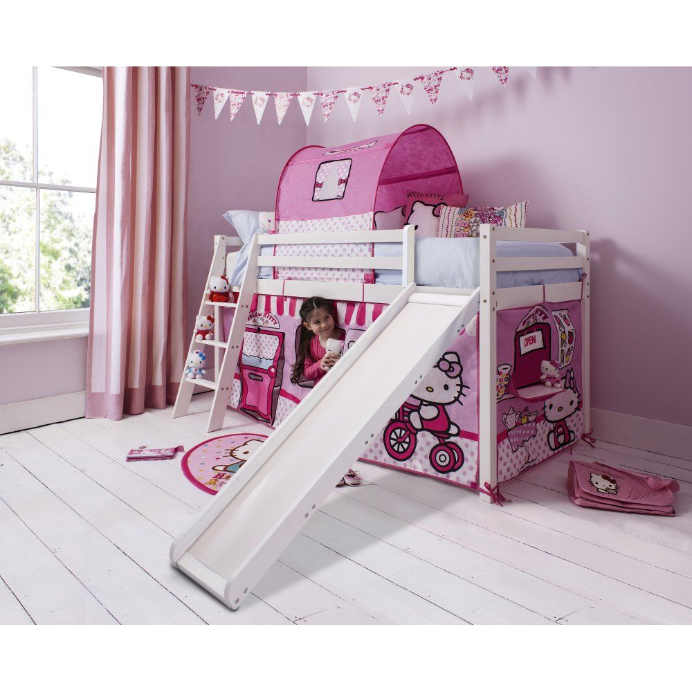 Hello Kitty Cabin Bed with Slide and Tent | Noa u0026 Nani  sc 1 st  Pinterest & Hello Kitty Cabin Bed with Slide and Tent | Noa u0026 Nani | Lexieu0027s ...