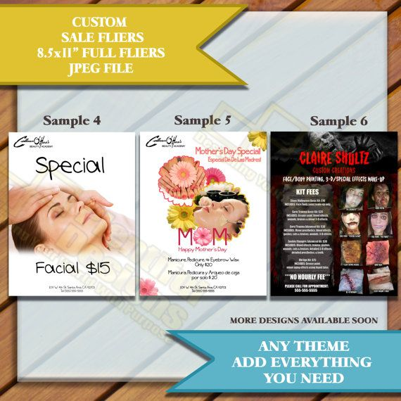 sale or advertisement marketing flyers sample and custom fliers a4 85x11