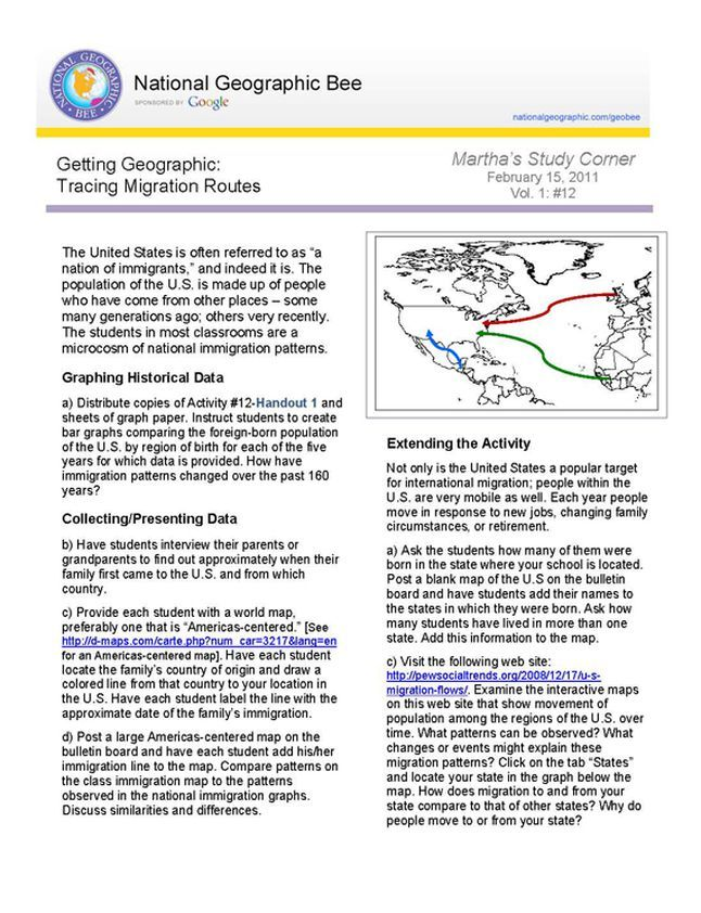 Tracing Migration Routes Ap Human Geography Route Migrations