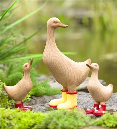 Large Mama Duck In Rain Boots Garden Statuary Unique Garden Decor Garden Statues Garden Whimsy