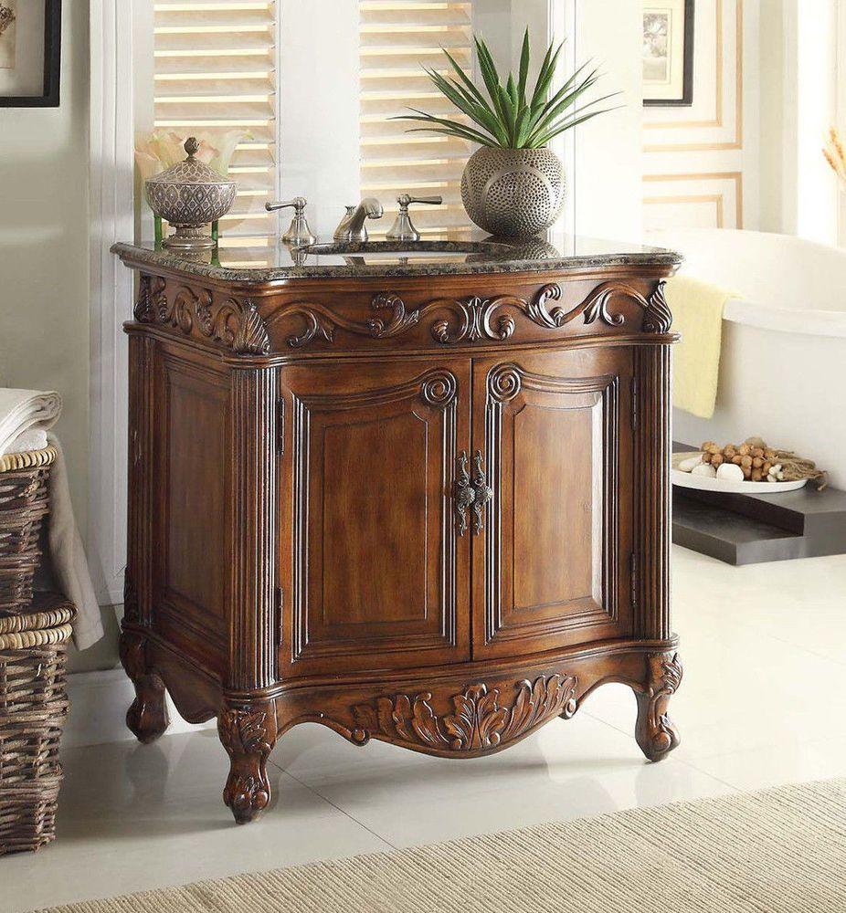 32 Traditional Style Fiesta Antique Bathroom Sink Vanity CF 2873SB TK
