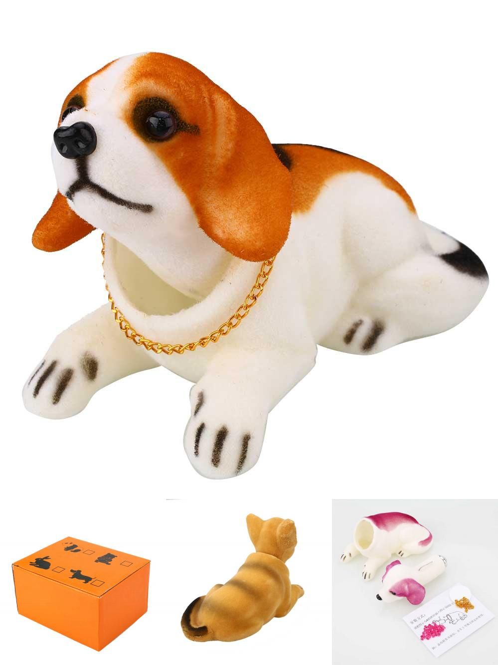 Visit to buy cute bobbing nodding moving bobble head dog car home