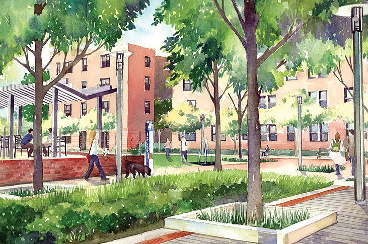 Landscape Architecture Perspective Drawings hand drawn landscape designs - tìm với google | diễn họa sân vườn