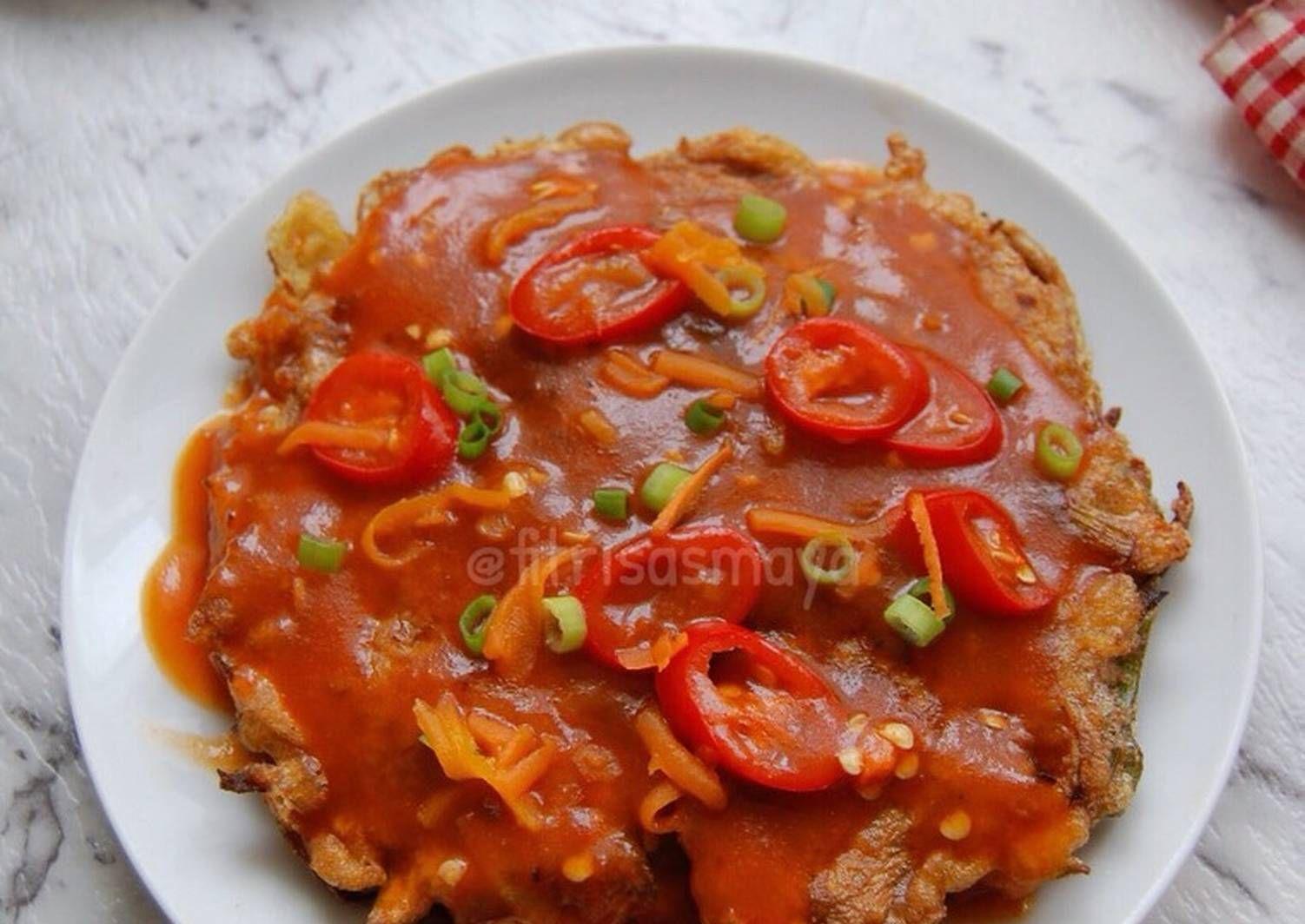 Resep Dadar Wortel Saos Asem Manis Oleh Fitri Sasmaya Resep Resep Masakan Indonesia Resep Makanan
