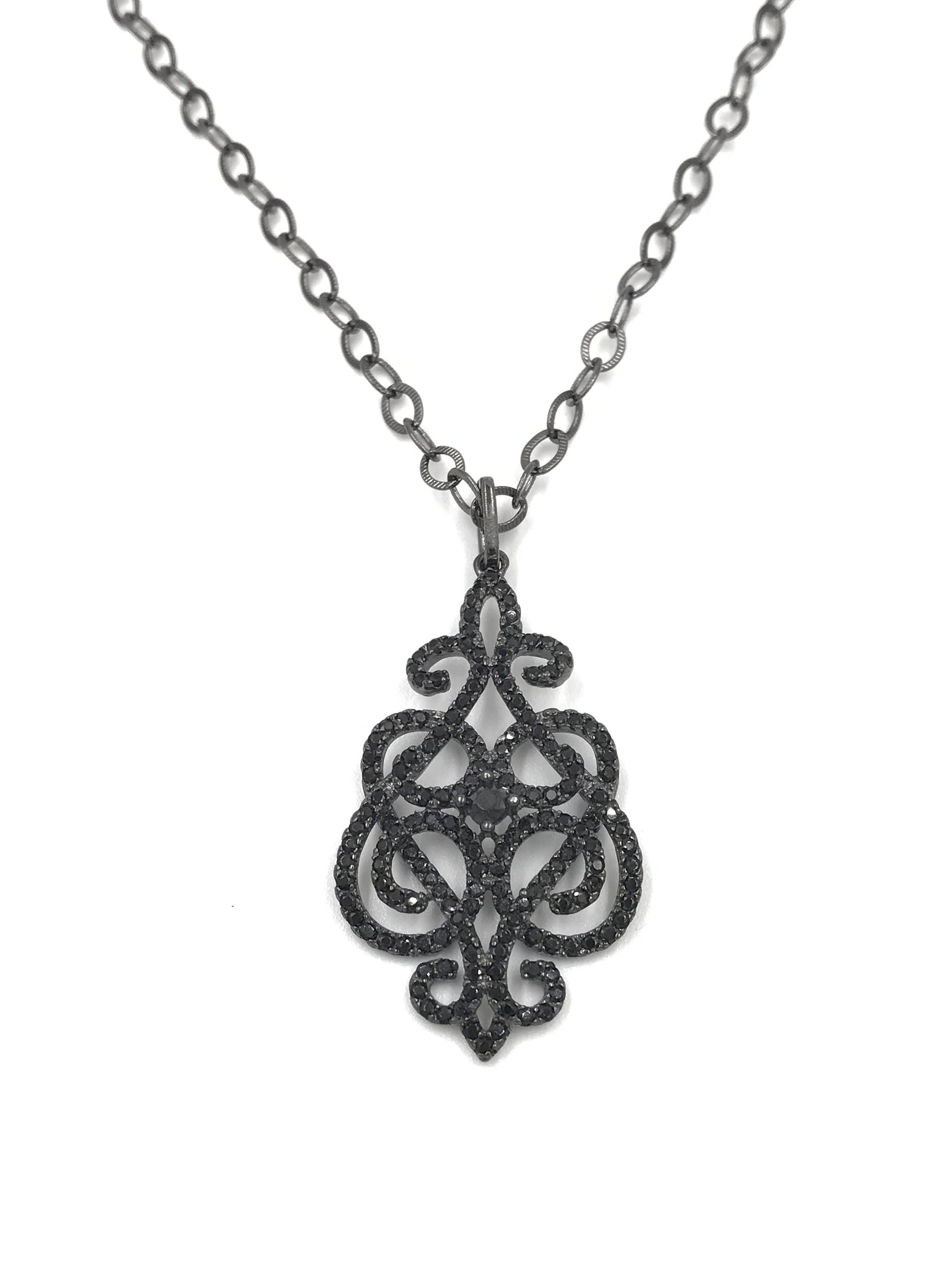 sterling calmness silver focus black love briolette products gold jacquelineashworth filled and necklace passion spinel