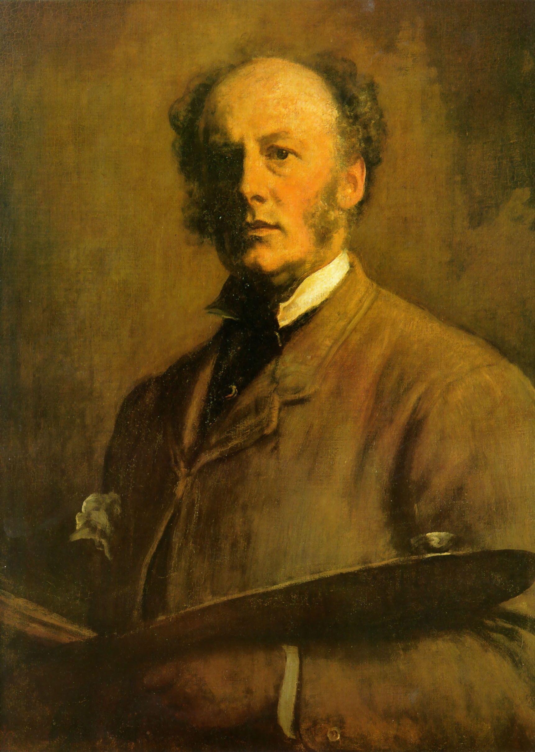 Sir John Everett Millais, self portrait. Born 8 June 1829, Southampton, England.  Died13 August 1896 (aged 67)  Kensington, London.