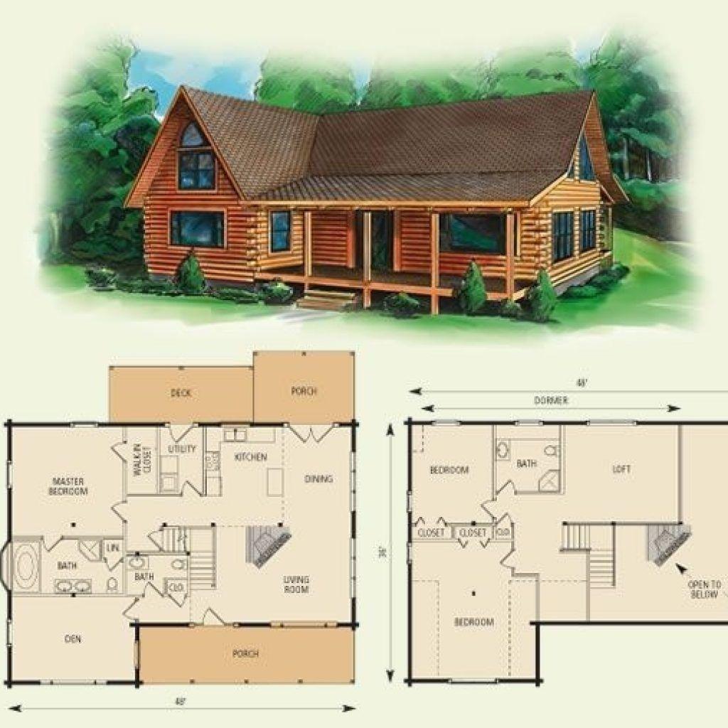 Near Mountain Cabin Plans With Loft Small Cabins Of Floor Design Wonderful Simple Cabin Floor P Log Cabin Floor Plans House Plan With Loft Log Home Floor Plans