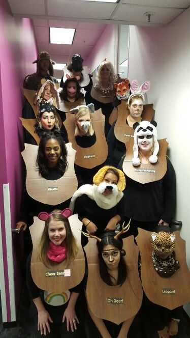 Taxidermy Animal Heads Group Costume