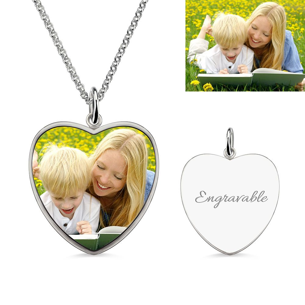 Hollow Heart Lady Girl 925 Silver Plate Plt Charm Pendant Necklace With Chain