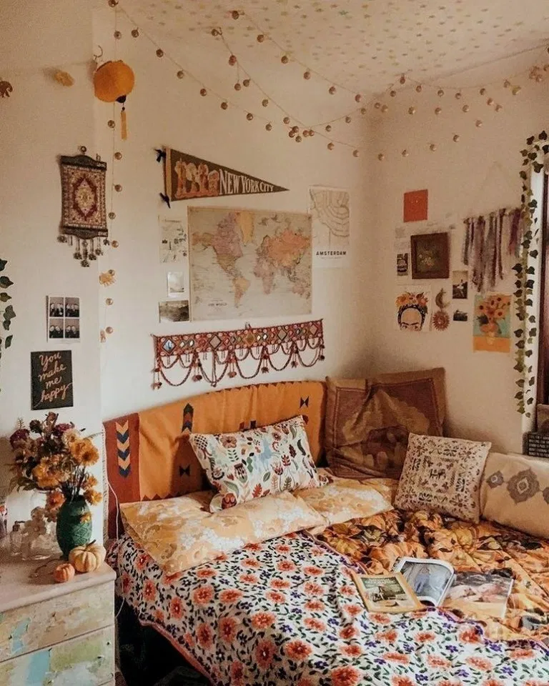 31 Modern Retro Vintage Style Bedroom Ideas 00007 Dorm Room