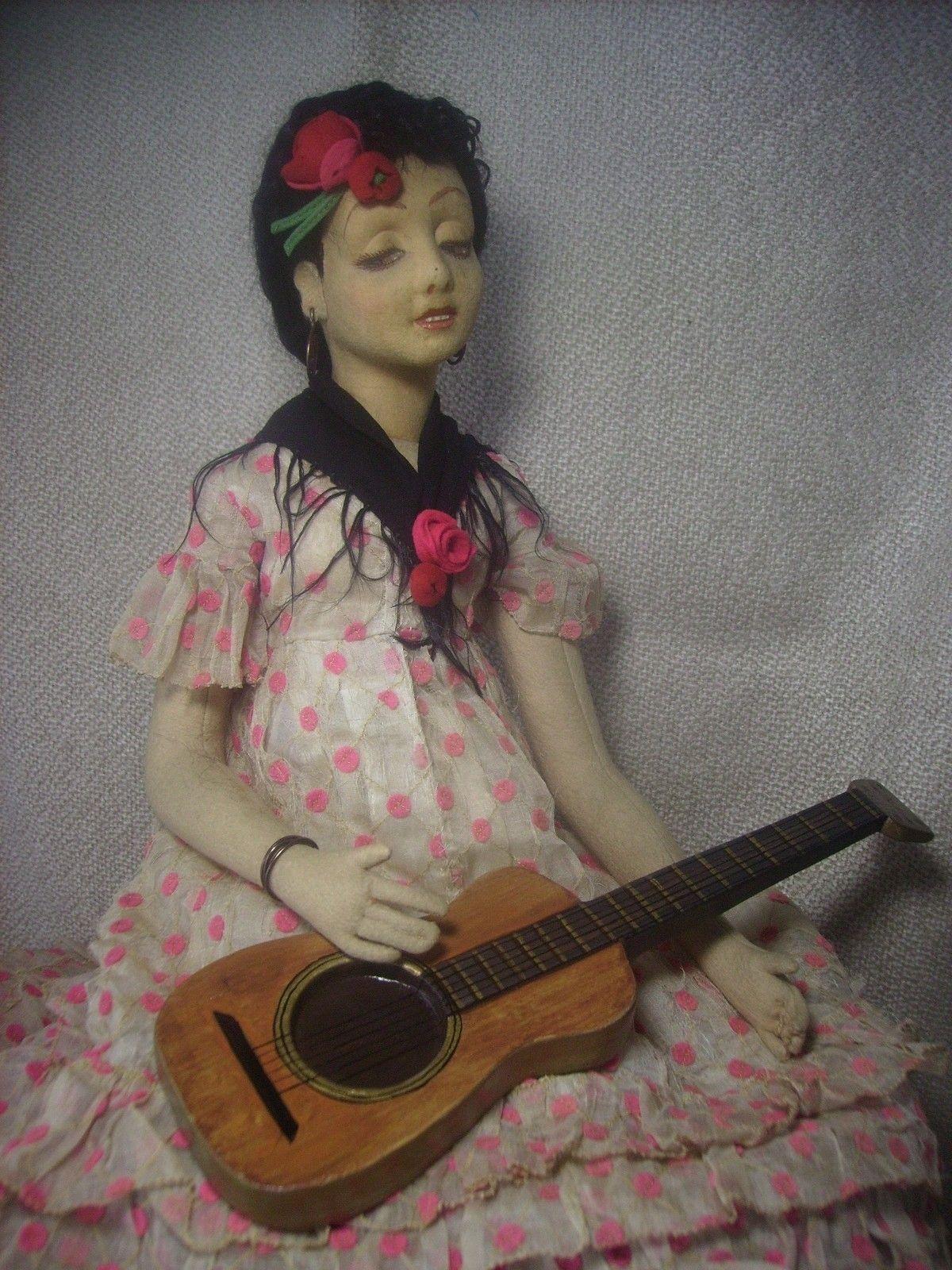 "Vintage Lenci Boudoir Lady Doll from 1931 27""   eBay"