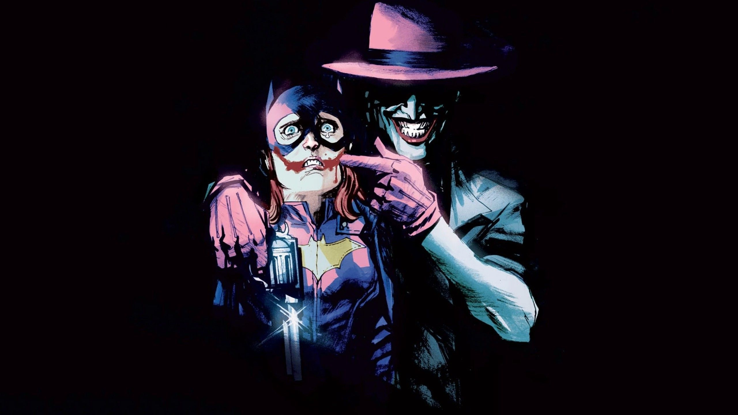 DC Comics Batgirls Joker Wallpaper 2560x1440
