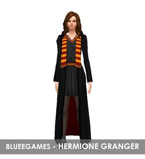 Harry Potter Hermione Granger Outfits Collection Sim Blueegames Sims Hermione Granger Harry Potter Outfits