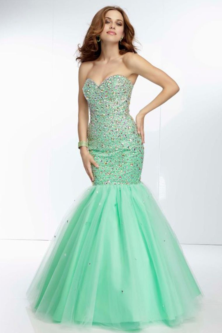 Start out searching for your perfect long maxi strapless light green ...