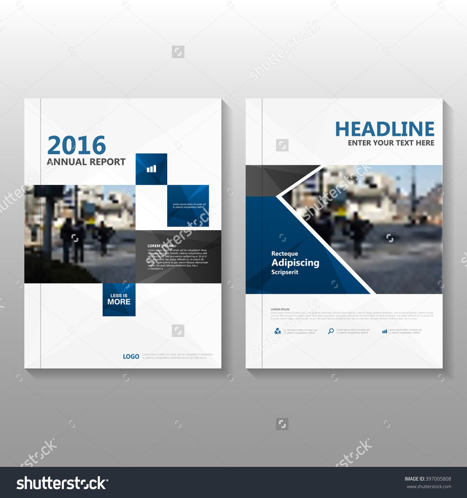 Design book covers online - Blue Black Elegance Vector Annual Report Leaflet Brochure Flyer Template Design Book Cover Layout Design