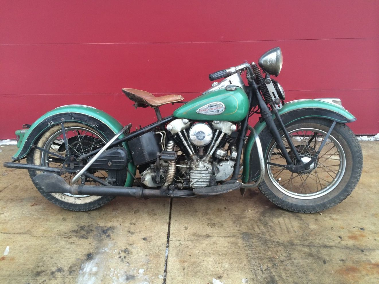 Highly Original 1940 Harley Davidson El Knucklehead Custom Bikes Cool Bikes Harley Knucklehead