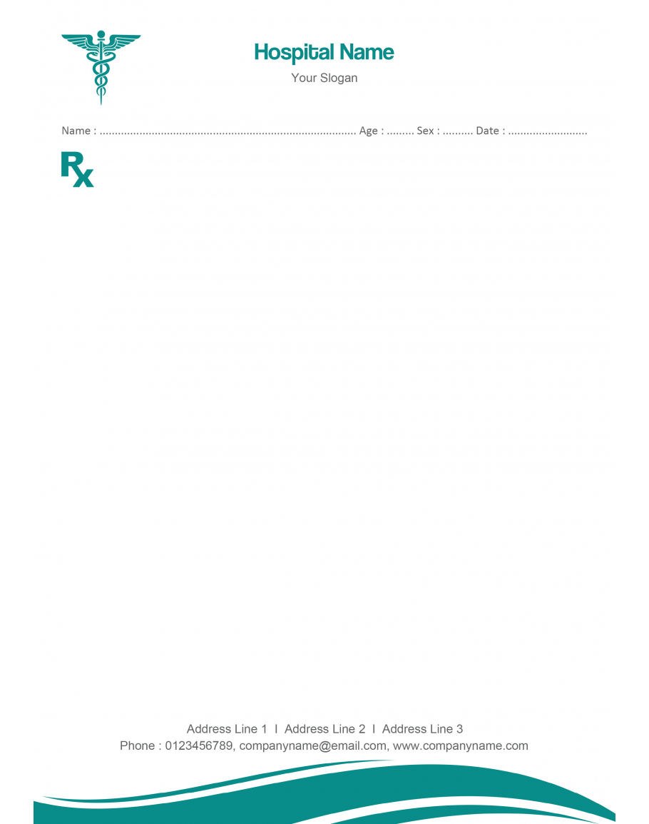 Doctor S Prescription Pad Design Prescription Pad Pad Design Medical Prescription