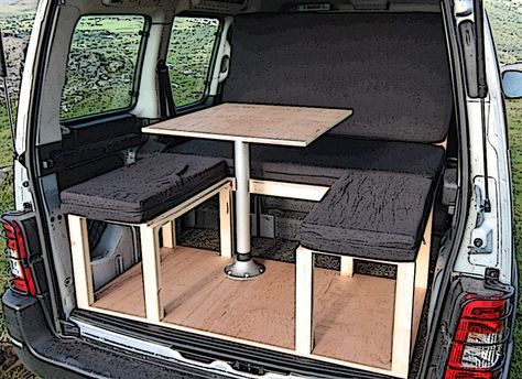 citroen berlingo peugeot partner camper van conversion module van interior ideas camper. Black Bedroom Furniture Sets. Home Design Ideas